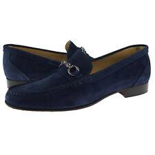 """Alex D """"Glendale"""" Suede Bit Loafer, Men's Dress/Casual Shoes, Blue"""