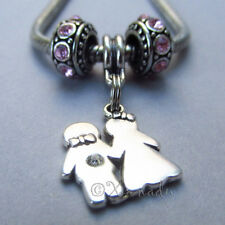 Bride And Groom European Charm Pendant With Birthstones For Charm Bracelets