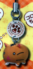 Poyo Poyo Kansatsunikki Poyo Satou Shocked Cat Cell Phone Strap Charm NEW