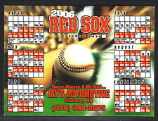 Boston Red Sox--2006 Magnet Schedule--Jay's Automotive