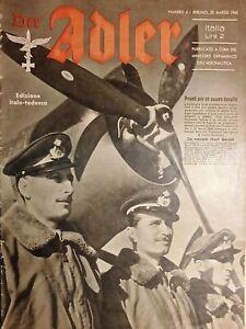 Rivista del Ministero Germanico dell'Aeronautica - Der Adler N. 6 - 1943 It/Ted.