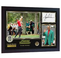 Tiger Woods 2019 Masters Tournament signed autographed GOLF photo printed Framed
