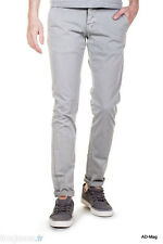 Pantalon Chino Homme BIAGGO JEANS Taros Light Grey - Taile 28 US (38 FR) - NEUF