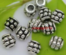 100pcs beautiful Tibet Silver Charm Spacer Beads DIY Making 4x4mm(lead free)