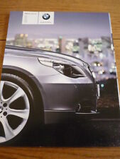 BMW 5 SERIES SALOON CAR BROCHURE 2004 / 05 GERMAN jm