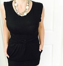 FRENCH CONNECTION WOMENS BLACK PURE VISCOSE SHORT DRESS Work Party SZ 10
