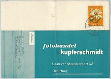 62486 -  THE NETHERLANDS - POSTAL HISTORY - 10 cnt SINGLE on COVER 1- FLOWERS