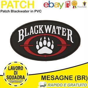 Patch Toppa 3D PVC Blackwater Soft Air Military Militare Militaria Airsoft