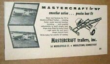 1957 Print Ad Mastercraft Boat Trailers Made in Middletown,CT
