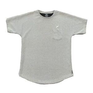 Publish Shirt Mens Large White Black Crew Neck Scoop Streetwear Menswear