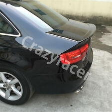 Unpainted Rear Trunk Spoiler Wing for Audi A4 B8 Saloon 13-15 CA Style