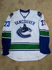 Alex Edler Game Worn Used Jersey NHL Vancouver Canucks Meigray COA ad3c59cb3