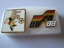 b1 lotto 2 spille GERMANY 1988 UEFA european championship pins lot 88