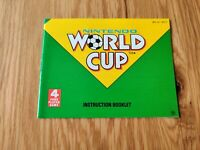 NINTENDO WORLD CUP NINTENDO ENTERTAINMENT SYSTEM NES MANUAL ONLY UKV - FREE P&P