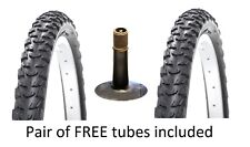 Pair of 24x1.95 inch bicycle tyres and tubes (24x1.95) bike tyre and tube