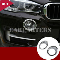 For BMW X5 F15 ABS Chrome Front Fog Light Lamp Cover Trim 2pcs 2014-2018