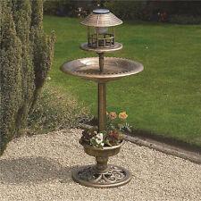 Solar Powered LED Garden Light Bird Bath Feeder Outdoor Planter Kingfisher