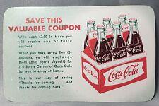 COCA COLA Fishtail 6-Pack Coupon Original Vintage