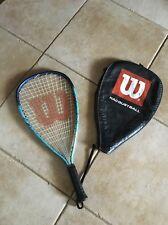 "Wilson Nitro Titanium Racket Ball Racket - 22"" Long Body Pro Sensation Grip"