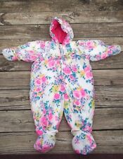 Vintage Alpine Way Girls Snow Suit 24 Months floral neon,  Multi-Color
