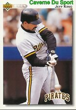 111 JEFF KING PITTSBURGH PIRATES BASEBALL CARD UPPER DECK 1992