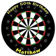 """Darts Board Personalised Cake Topper Edible Wafer Paper 7.5"""" Birthdays Partys"""