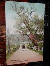 MIDDLESEX FELLS MA - 1907 POSTCARD - MALDEN - MEDFORD - MELROSE - STONEHAM