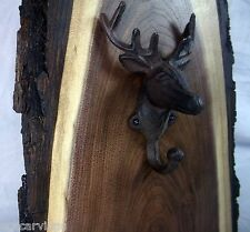Walnut Log Hand Towel Coat Hat Rack Holder Natural Wood Rustic Log Cabin Decor