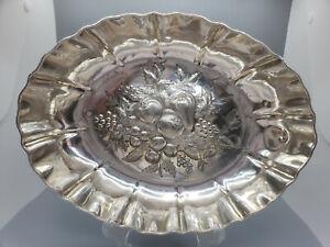 Antique White Star Line Elkington Silver Plate Fruit Bowl 1899 Stamped N Flag