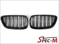 M2 Look Jet Black Front Hood Grille Grill For 14-18 220i M235i M240i F22 BMW