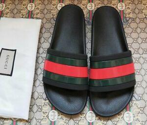 Gucci Striped Logo Slipper Sandal Slides