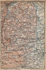 RHEINHESSEN. RHENISH HESSE. Mainz Mannheim Worms Kreuznach. Germany 1896 map