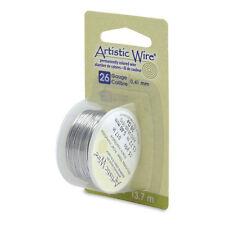 Artistic Wire Stainless Steel 26 Gauge 15 Yard Dispenser 43133  Round