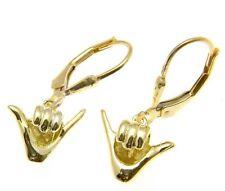 Ohrhänger aus Gelbgold ohne Steine