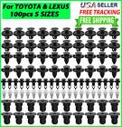 100x TOYOTA & LEXUS Trim Panel Clips Bumper Fender Push Pin Rivet 7 8 9mm Engine <br/> Perfect for Bumper Fender Rocker Door Hood Wheel Arch