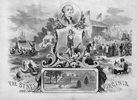 OLD DOMINION STATE OF VIRGINIA VOYAGER CAPTAIN JOHN SMITH LANDING AT JAMESTOWN