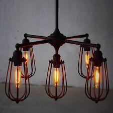 Rustic Metal Pendant Light Retro Adjustable Ceiling Lamp Chandeliers 5 Fixtures