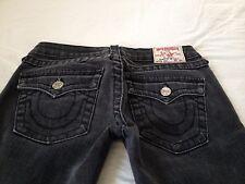 True Religion Women's Julie Low Rise Skinny Charcoal Gray Jeans Size 27 L29