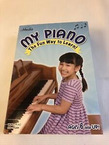 NEW SEALED eMedia My Piano Software CD ROM Educational Learn Keyboard XP Vista