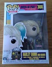 Funko Pop Birds of Prey 308 Harley Quinn and Beaver Vinyl Figure