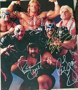 STING, RIC FLAIR, ANIMAL + signed photo , wwe, wcw, aew, NXT, njpw