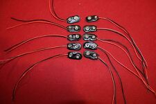 10 X LOT 9V VOLT BATTERY CAP MOUNT PIG TAIL CASE WIRE LEAD PART ADAPTER