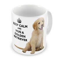 Keep Calm And Hug A Golden Retriever Novelty Gift Mug