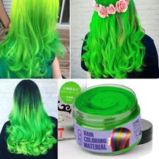 Green Hair Color Wax Mud Dye Unisex DIY Temporary Modeling 9 Colors EZGO