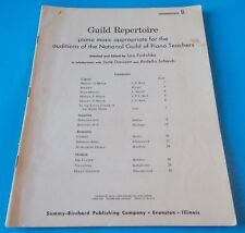 GUILD REPERTOIRE SELECTED AND EDITED BY LEO PODOLSKY SHEET MUSIC BOOK