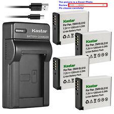 Kastar Battery Slim USB Charger for DMW-BLG10 BLG10E & Panasonic Lumix DMC-GX7K
