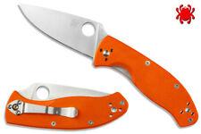 Rare/Sprint Run! Spyderco Tenacious (Satin Blade) Knife w/Exclusive ORANGE G-10