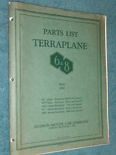 1933 HUDSON TERRAPLANE PARTS CATALOG  / RARE ORIGINAL BODY & CHASSIS PARTS BOOK