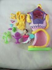 Disney Princess Little Kingdom Snap In Rapunzel Doll and Tower