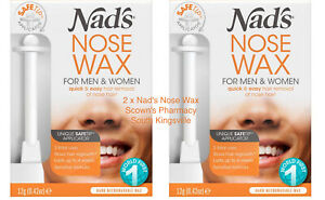 2 x Nad's Nose Wax for Men And Women 12g Shaving Nads Hair Removal Quick & Easy